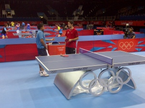 Training in the Olympic TT venue - Aguirre vs Ghosh